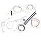 Stainless Braided Handlebar Cable and Brake Line Kit for Use w/15 in. - 17 in. Ape Hangers (w/o ABS) - LA-8140KT2-16