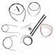 Black Vinyl Handlebar Cable and Brake Line Kit for Use w/15 in. - 17 in. Ape Hangers (w/o ABS) - LA-8140KT2-16B