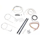 Stainless Braided Handlebar Cable and Brake Line Kit for Use w/18 in. - 20 in. Ape Hangers (w/o ABS) - LA-8140KT2-19