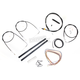Black Vinyl Handlebar Cable and Brake Line Kit for Use w/18 in. - 20 in. Ape Hangers (w/o ABS) - LA-8140KT2-19B