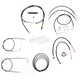 Black Vinyl Handlebar Cable and Brake Line Kit for Use w/12 in. - 14 in. Ape Hangers (w/ABS) - LA-8150KT2-13B