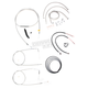 Stainless Braided Handlebar Cable and Brake Line Kit for Use w/18 in. - 20 in. Ape Hangers (w/ABS) - LA-8150KT2-19