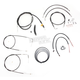 Black Vinyl Handlebar Cable and Brake Line Kit for Use w/18 in. - 20 in. Ape Hangers (w/ABS) - LA-8150KT2-19B