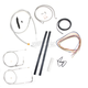 Stainless Braided Handlebar Cable and Brake Line Kit for Use w/Mini Ape Hangers (w/o ABS) - LA-8210KT2A-08