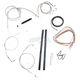 Stainless Braided Handlebar Cable and Brake Line Kit for Use w/12 in. - 14 in. Ape Hangers (w/o ABS) - LA-8210KT2A-13