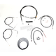 Black Vinyl Handlebar Cable and Brake Line Kit for Use w/Mini Ape Hangers - LA-8210KT2B-08B
