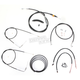 Black Vinyl Handlebar Cable and Brake Line Kit for Use w/15 in. - 17 in. Ape Hangers - LA-8210KT2B-16B
