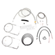 Stainless Braided Handlebar Cable and Brake Line Kit for Use w/18 in. - 20 in. Ape Hangers - LA-8210KT2B-19