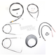 Black Vinyl Handlebar Cable and Brake Line Kit for Use w/18 in. - 20 in. Ape Hangers - LA-8210KT2B-19B
