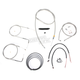 Stainless Braided Handlebar Cable and Brake Line Kit for Use w/12 in. - 14 in. Ape Hangers - LA-8220KT2-13