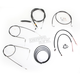 Black Vinyl Handlebar Cable and Brake Line Kit for Use w/15 in. - 17 in. Ape Hangers - LA-8220KT2-16B