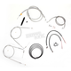 Stainless Braided Handlebar Cable and Brake Line Kit for Use w/18 in. - 20 in. Ape Hangers - LA-8220KT2-19