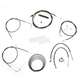 Black Vinyl Handlebar Cable and Brake Line Kit for Use w/18 in. - 20 in. Ape Hangers - LA-8220KT2-19B