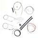 Stainless Braided Handlebar Cable and Brake Line Kit for Use w/Mini Ape Hangers - LA-8300KT2-08