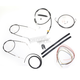 Black Vinyl Handlebar Cable and Brake Line Kit for Use w/Mini Ape Hangers (w/o ABS) - LA-8300KT2-08B