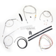 Stainless Braided Handlebar Cable and Brake Line Kit for Use w/Cafe Ape Hangers - LA-8300KT2-0C