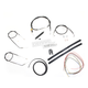 Black Vinyl Handlebar Cable and Brake Line Kit for Use w/Cafe Ape Hangers - LA-8300KT2-0CB