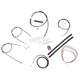 Black Vinyl Handlebar Cable and Brake Line Kit for Use w/15 in. - 17 in. Ape Hangers (w/o ABS) - LA-8300KT2-16B