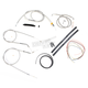 Stainless Braided Handlebar Cable and Brake Line Kit for Use w/18 in. - 20 in. Ape Hangers - LA-8300KT2-19