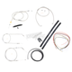 Stainless Braided Handlebar Cable and Brake Line Kit for Use w/Mini Ape Hangers (w/o ABS) - LA-8310KT2-08