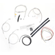 Stainless Braided Handlebar Cable and Brake Line Kit for Use w/Cafe Ape Hangers - LA-8310KT2-0C