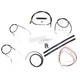Black Vinyl Handlebar Cable and Brake Line Kit for Use w/Cafe Ape Hangers - LA-8310KT2-0CB