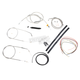 Stainless Braided Handlebar Cable and Brake Line Kit for Use w/12 in. - 14 in. Ape Hangers (w/o ABS) - LA-8310KT2-13
