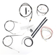 Black Vinyl Handlebar Cable and Brake Line Kit for Use w/12 in. - 14 in. Ape Hangers (w/o ABS) - LA-8310KT2-13B