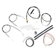 Stainless Braided Handlebar Cable and Brake Line Kit for Use w/15 in. - 17 in. Ape Hangers (w/o ABS) - LA-8310KT2-16B