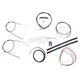 Black Vinyl Handlebar Cable and Brake Line Kit for Use w/18 in. - 20 in. Ape Hangers (w/o ABS) - LA-8310KT2-19B