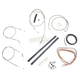 Stainless Braided Handlebar Cable and Brake Line Kit for Use w/Mini Ape Hangers (w/o ABS) - LA-8320KT2A-08