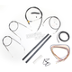 Black Vinyl Handlebar Cable and Brake Line Kit for Use w/Mini Ape Hangers (w/o ABS) - LA-8320KT2A-08B