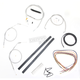 Stainless Braided Handlebar Cable and Brake Line Kit for Use w/Cafe Ape Hangers - LA-8320KT2A-0C