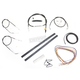 Black Vinyl Handlebar Cable and Brake Line Kit for Use w/Cafe Ape Hangers - LA-8320KT2A-0CB