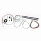 Stainless Braided Handlebar Cable and Brake Line Kit for Use w/12 in. - 14 in. Ape Hangers (w/o ABS) - LA-8320KT2A-13