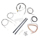 Black Vinyl Handlebar Cable and Brake Line Kit for Use w/12 in. - 14 in. Ape Hangers (w/o ABS) - LA-8320KT2A-13B