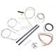 Stainless Braided Handlebar Cable and Brake Line Kit for Use w/15 in. - 17 in. Ape Hangers (w/o ABS - LA-8320KT2A-16
