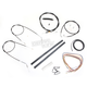 Stainless Braided Handlebar Cable and Brake Line Kit for Use w/15 in. - 17 in. Ape Hangers (w/o ABS) - LA-8320KT2A-16B