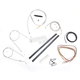 Stainless Braided Handlebar Cable and Brake Line Kit for Use w/18 in. - 20 in. Ape Hangers (w/o ABS) - LA-8320KT2A-19