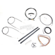 Black Vinyl Handlebar Cable and Brake Line Kit for Use w/18 in. - 20 in. Ape Hangers (w/o ABS) - LA-8320KT2A-19B