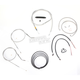 Stainless Braided Handlebar Cable and Brake Line Kit for Use w/Mini Ape Hangers - LA-8320KT2B-08