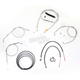 Stainless Braided Handlebar Cable and Brake Line Kit for Use w/Cafe Ape Hangers w/o ABS - LA-8320KT2B-0C