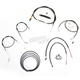 Black Vinyl Handlebar Cable and Brake Line Kit for Use w/Cafe Ape Hangers w/o ABS - LA-8320KT2B-0CB
