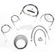 Black Vinyl Handlebar Cable and Brake Line Kit for Use w/Cafe Ape Hangers - LA-8320KT2B-0CB