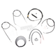 Black Vinyl Handlebar Cable and Brake Line Kit for Use w/12 in. - 14 in. Ape Hangers - LA-8320KT2B-13B