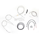 Stainless Braided Handlebar Cable and Brake Line Kit for Use w/15 in. - 17 in. Ape Hangers - LA-8320KT2B-16