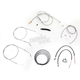 Stainless Braided Handlebar Cable and Brake Line Kit for Use w/18 in. - 20 in. Ape Hangers - LA-8320KT2B-19