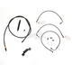 Midnight Stainless Handlebar Cable and Brake Line Kit for Use w/12 in. - 14 in. Ape Hangers (w/o ABS) - LA-8011KT-13M