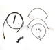 Midnight Stainless Handlebar Cable and Brake Line Kit for Use w/15 in. - 17 in. Ape Hangers (w/o ABS) - LA-8011KT-16M