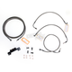 Midnight Stainless Handlebar Cable and Brake Line Kit for Use w/15 in. - 17 in. Ape Hangers (w/o ABS) - LA-8012KT-16M